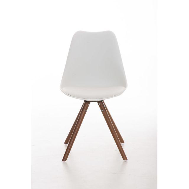 Stylé Chaise de salle à manger, de cuisine, de salon Séoul rond noyer