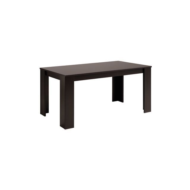 Table rectangulaire 160x88x78cm coloris café