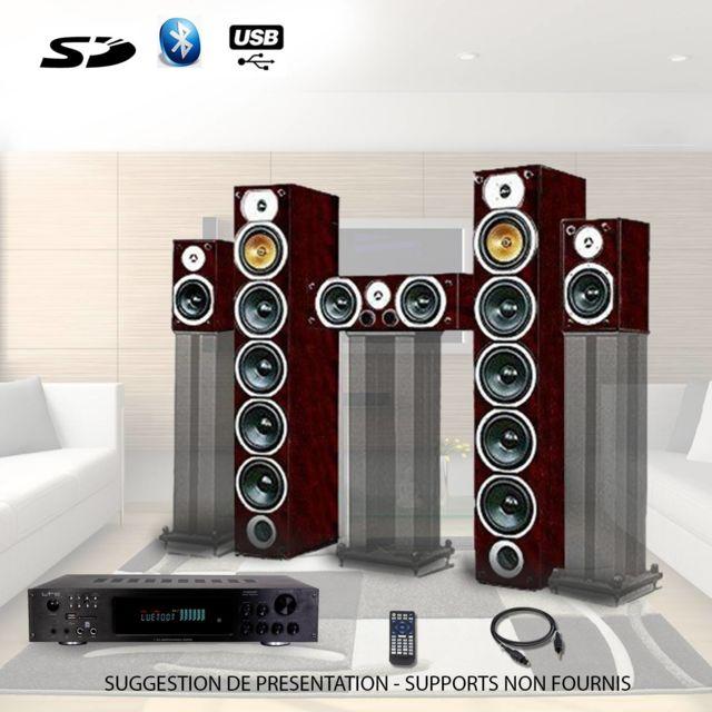 Beng Ensemble Home-cinéma Hifi 1240W + ampli 360W V9B-AC + Atm8000BT + Cable