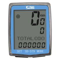 Compteur de v/élo Ordinateur de v/élo sans Fil Capteur Reed Compteur kilom/étrique de v/élo /Écran LCD 1,5 38,1 mm avec r/étro/éclairage Bleu Affichage de la temp/érature en /°C