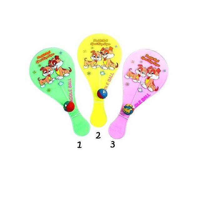 1990ffe4da604 Sans - Tap Ball Raquette fluo fluorescent Jeux Jouet Enfant 18cm Mod2 Jaune  - 860