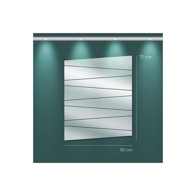 Declikdeco Miroir trapèzes Mm argenté en verre Tora 70 x 56 cm