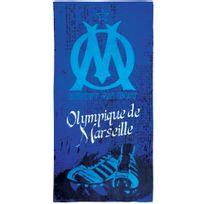 Olympique Marseillais - Drap de plage Om Crampons 100% coton 410 g/m² 70x120cm