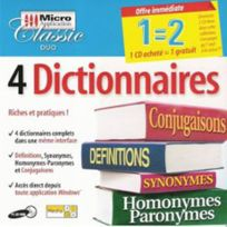 Micro Application - 4 Dictionnaires - Pc - Neuf
