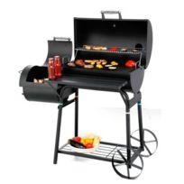 Outdoor - Barbecue Xl familial tonneau américain - Avec fumoir