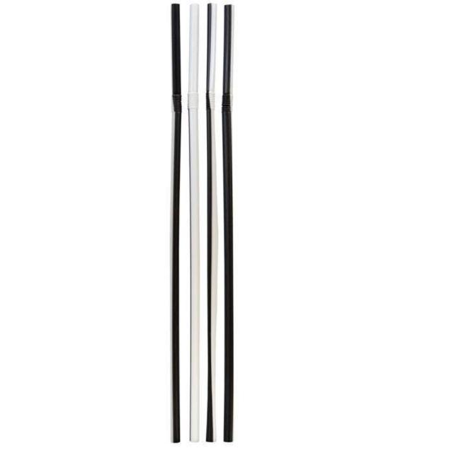 Santex 500 pailles noir et blanc flexible