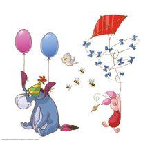 Bebegavroche - 13 Stickers pour vitre Winnie l'Ourson Disney
