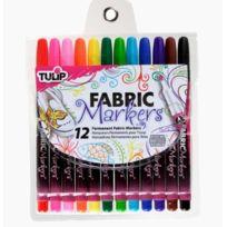 Tulip - 26662 1 Paquet De 12 Marqueurs Permanents Pointes Fines Pour Tissus