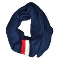 f4f618fc5b57 Tommy hilfiger - Echarpe bleu marine bandes bleu blanc rouge pour homme