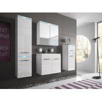 Shower Design - Ensemble Clemence à leds - meubles de salle de bain - laqué blanc