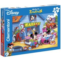Clementoni - Puzzle Enfant - L'univers de Mickey: Le garage - 104 pièces