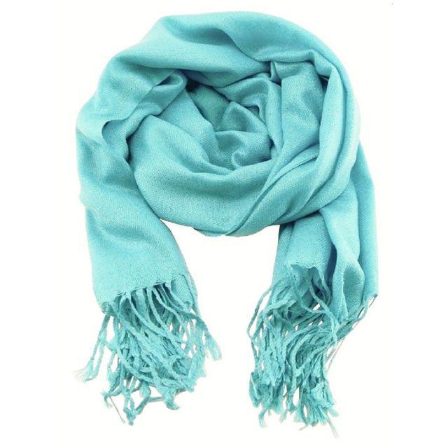 Accessoires mode pashmina étole écharpe bleu clair - pas cher Achat ... f8b61cf027d