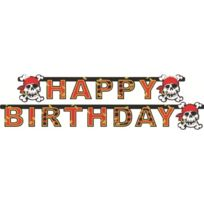 Riethmuller - Guirlande Happy Birthday Jolly Roger - Pirate - DÉCORATION Anniversaire Enfant