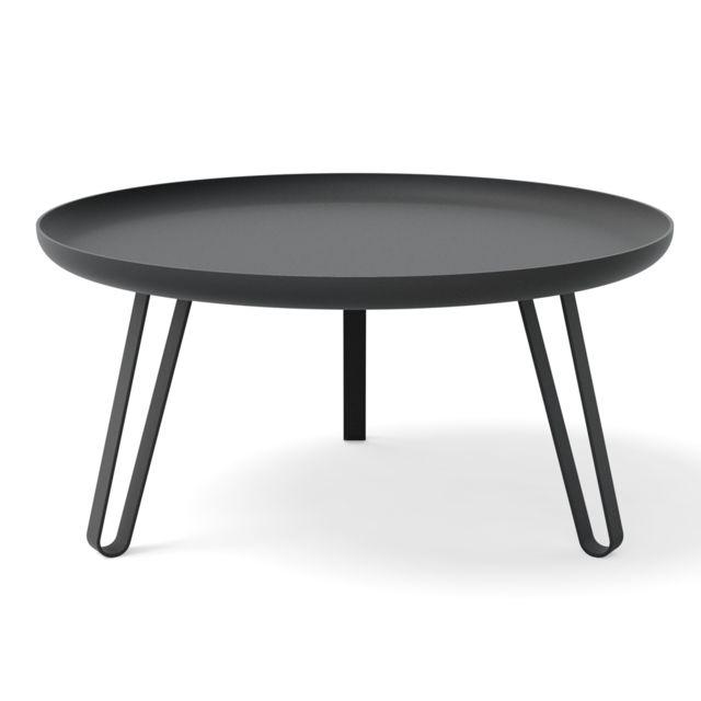 Konstantin Slawinski Table basse Carosello 74cm noir