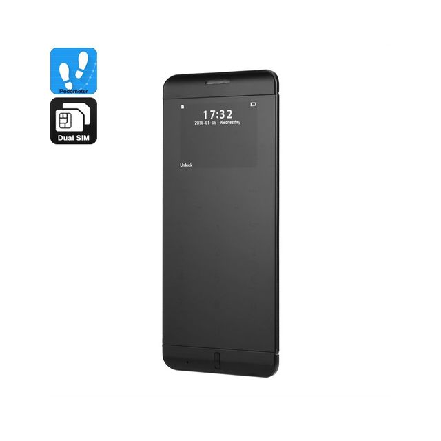 Auto-hightech Téléphone ultrafin Quad Band, Double Sim, Micro Sd Slot, batterie 480mAh