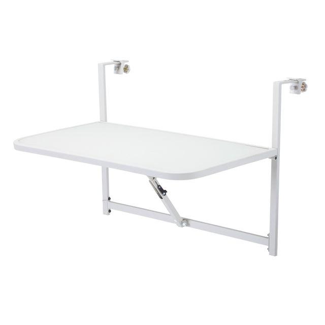 CARREFOUR - Table balcon à accrocher - 16S7361B Gris - 65cm ...