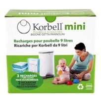 Korbell - Recharge 3 pack pour poubelle 9L