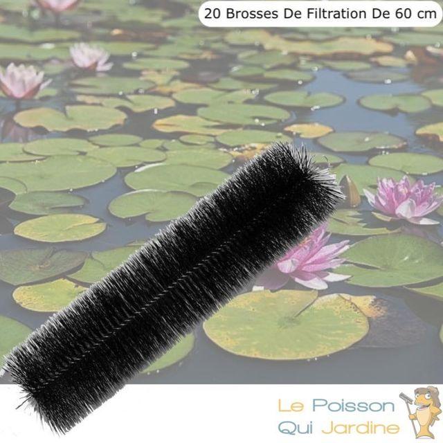 Le Poisson Qui Jardine 20 brosses de filtration 60 cm pour filtre de bassins de jardin