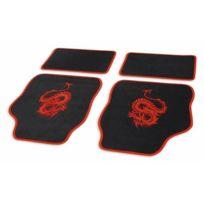 Cartrend - Jeu de tapis de sol »Mystery« 4 pièces Rouge