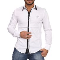 Carisma - Chemise homme col italien blanche