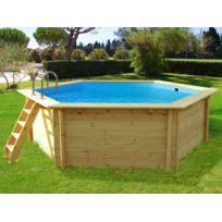habitat et jardin piscine bois hawai 410 x 118 m