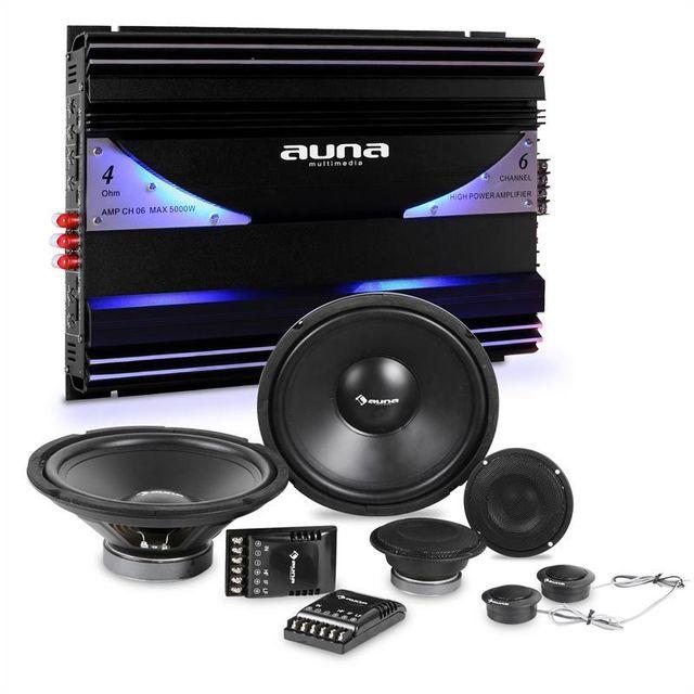 ELECTRONIC STAR auna Set Tuning auto kit éclaté enceintes & amplificateur 6 canaux 570W RMS Electronic-Star