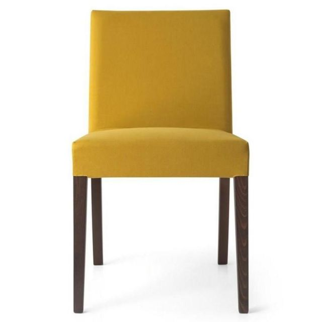 chaise de bureau jaune moutaede