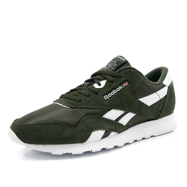 cf6422bdf0080 Reebok - Classic Nylon Homme Chaussures Vert Multicouleur 44 - pas cher  Achat   Vente Baskets homme - RueDuCommerce