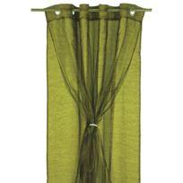 Street Home - Double rideau a oeillets Doubly 140x250 cm vert