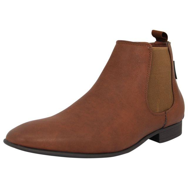 ef3d671f21eb Ben Sherman - Fashion Chelsea Boot Bottines Homme Cuir Noir - pas cher  Achat   Vente Boots homme - RueDuCommerce
