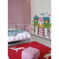 Mon Beau Tapis - Stickers Kids Lab Cabane Dans Les Arbres Géant Roommates Repositionnables 135x122cm