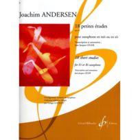 Billaudot Gerard Editions - 18 petites éudes opus 41 - Joachim Andersen - Saxophone