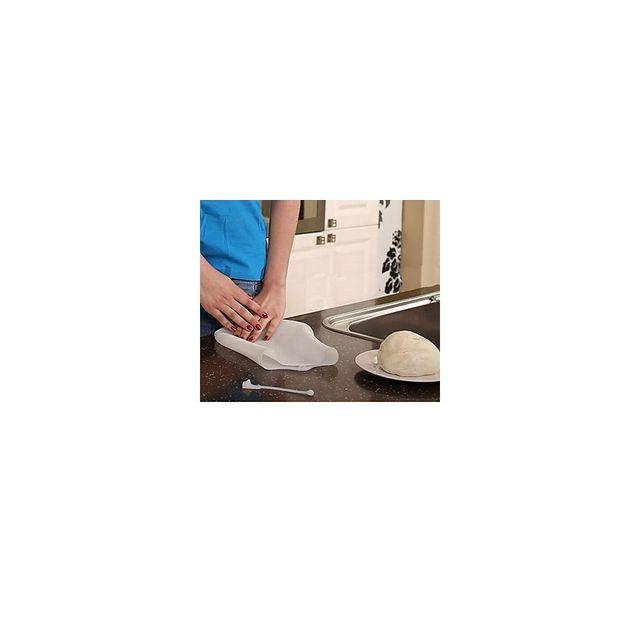 Alpexe Poche en silicon pour fabriquer de la pate a pain, gateau sans toucher la pate et donc sans se salire ou avoir les doigt