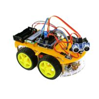 TBS - TBS2654 bluetooth, Kit de montage complet Arduino Voiture Robot 4WD intelligente avec détecteurs d'obstacles à ultrason et infrarouge - Kit d'apprentissage DYI programmable - 4WD Arduino Smart Car Robot Learning Starter Kit Smart Programmable Robot DIY FR