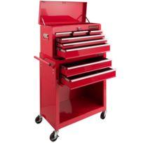 eea2e3ae269033 Servante Caisse à outils d atelier 9 tiroirs tools chest chariot rouge