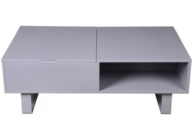 Declikdeco Offrez une déco pleine de charme à votre intérieur tout en y installant cette Table basse grise avec plateau relevable M
