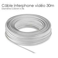 SecuriteGOODdeal - Rallonge cable interphone 4 fils de 30m