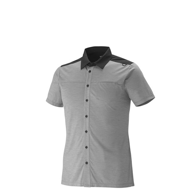 Millet Chemise Cloud Peak Wool Smoked Pearl Homme
