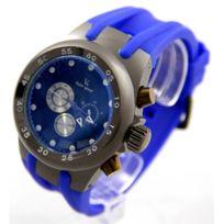 V6 Montre Homme - Montre Homme Silicone Bleu V6 2692