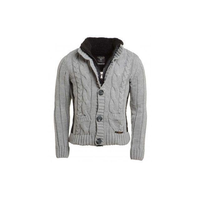 BLZ Jeans - Gilet homme gris uni fashion - pas cher Achat   Vente ... 6634848a627c