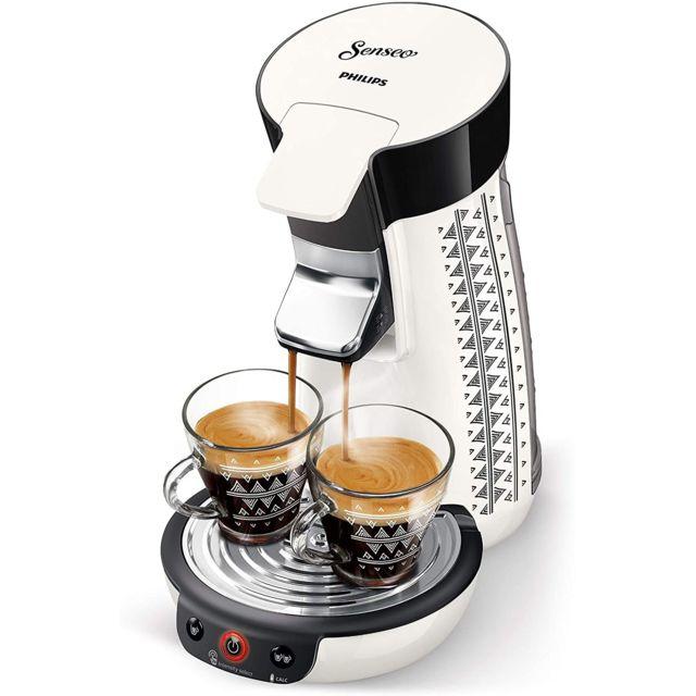 Philips Machine à Café à Dosettes Senseo de 0,9L blanc noir