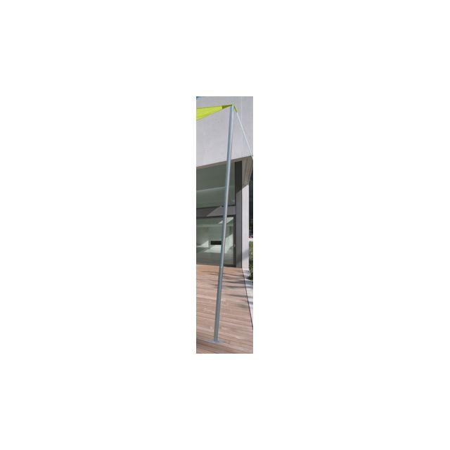 JARDIDECO Mât acier pour voile d'ombrage Ø 50 mm - 2,40 m