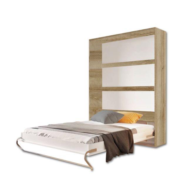 marque generique lit escamotable vertical sonoma 140 x 200 140cm x 200cm pas cher achat. Black Bedroom Furniture Sets. Home Design Ideas