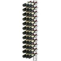 Visiorack - Support mural chromé pour 36 bouteilles de 75cl - Bouteilles inclinées - Chrome Aci-vis203