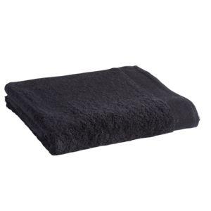 tex home drap de douche en coton durable noir 140cm x 70cm pas cher achat vente. Black Bedroom Furniture Sets. Home Design Ideas