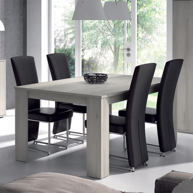 Table De Salle A Manger Rectangulaire Couleur Chene Gris Contemporaine Sophie