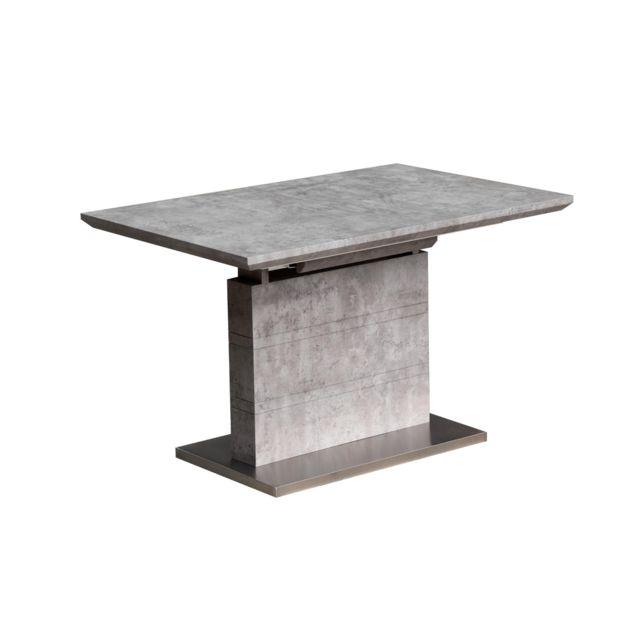 MENZZO Table extensible Archi Effet béton