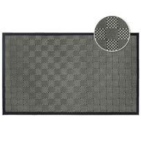 Tapis Deco - Cdaffaires Tapis rectangle 45 x 75 cm pvc tisse simeo Noir