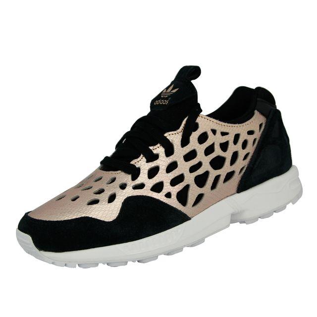 Adidas originals - Zx Flux Lace W Chaussures Mode Sneakers Femme Noir Rose