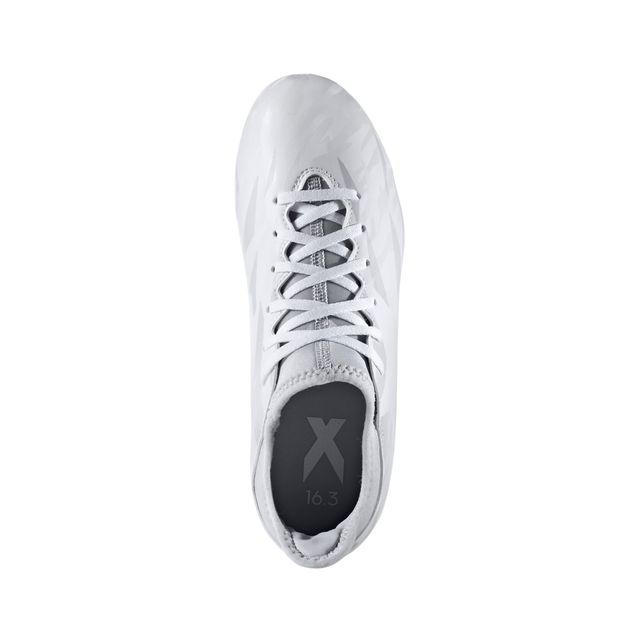 Adidas performance - Chaussures football Adidas X 16.3 Fg Junior Blanc/gris